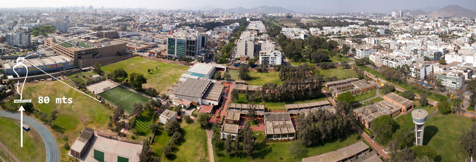 VISTACORP - Vista Panorámica a 80 metros de altura - Hacia el Colegio Santa María